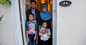 Mohammed Rafique and Rafika Begum with their children Jamalida (8) and Waheeda (4) at their home in Carlow. Photograph: Brenda Fitzsimons