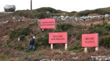 Three billboards outside Leitir Mealláin, Connemara