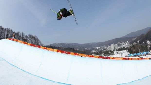 Newby was Ireland's first half-pipe skier in the history of the Winter Olympics. Photo: Cameron Spencer/Getty Images