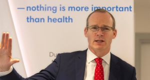 Tánaiste Simon Coveney at an event in Cork on Monday. Photograph: Michael Mac Sweeney/Provision