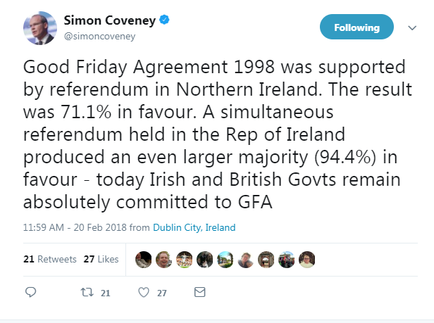Ireland condemns Kate Hoey's 'reckless' Good Friday agreement remarks