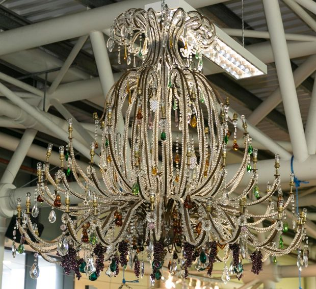 A two metre tall chandelier from Howl At The Moon. Photograph: Paul Sherwood