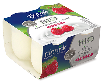 Glenisk says there is just 2.5g of added sugar in each 125g pot, which can be considered good as it is just over half a teaspoon