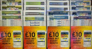 William Hill: the UK Gambling Commission has fined the bookmaker at least €7 million for failing to protect customers and prevent money laundering. Photograph: Simon Dawson/Bloomberg