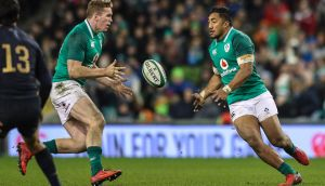 Any potential assumption by Wales that Chris Farrell and Bundee Aki are a smash and bash partnership  will play nicely into their hands. Photograph: Billy Stickland/Inpho