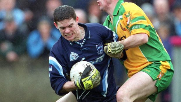 Stephen Cluxton making his first league appearance for Dublin against Donegal in 2002. Photograph: Lorraine O'Sullivan/Inpho