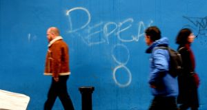 A mural in favour of repealing the Eighth Amendment in  Temple Bar in Dublin. File photograph: Cyril Byrne/The Irish Times