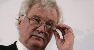 British secretary of state for exiting the European Union David Davis was speaking in Vienna on Tuesday. Photograph:  Heinz-Peter Bader/EPA