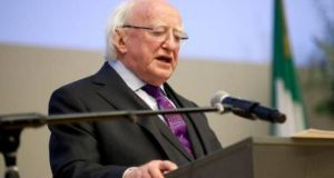 President Michael D Higgins: figures in Leinster House have been told he will declare his intentions in July