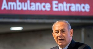 Israeli prime minister Binyamin Netanyahu: under pressure. Photograph: Jack Guez/AFP/Getty Images