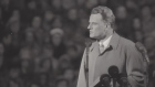 Young evangelist Billy Graham addresses 125,000 at Wembley Stadium