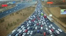 Traffic chaos in Beijing as Chinese New Year holiday ends