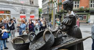 What do you think Molly Malone would say if she could talk? Photograph: Alan Betson / The Irish Times