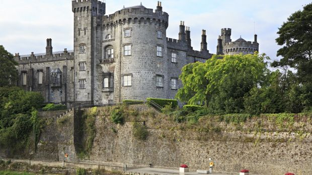 FashionKilkenny Castle. Historic landmark in the town of Kilkenny in Ireland.