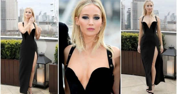 c6848ade976 Jennifer Lawrence dress controversy: She looked frozen and out of place