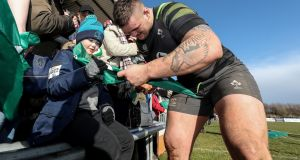 Andrew Porter signs autographs for fans in Athlone last week. Photograph: Billy Stickland/Inpho