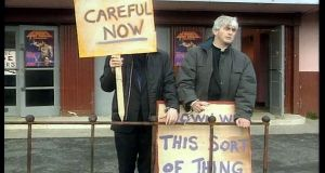 Comedy show Father Ted ran between 1995 and 1998.