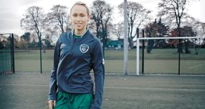 "Stephanie Roche: ""I think a lot of people have this image of a woman footballer who is butch and doesn't look after herself and that's just not right. Photograph: Beta Bajgart"