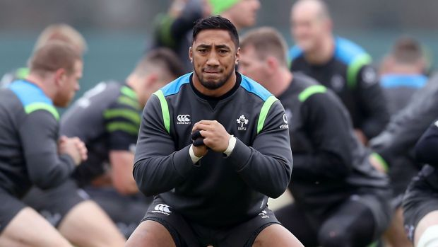 Bundee Aki has been getting tips from back home. Photograph: Billy Stickland/Inpho
