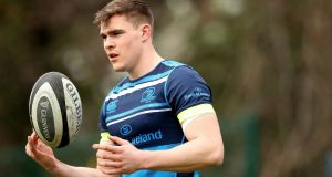 Garry Ringrose: received a glowing report card from Ireland defensive coach Andy Farrell. Photograph: Oisin Keniry/Inpho
