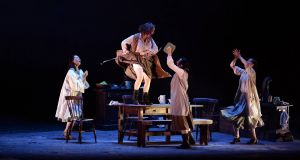A scene from Brian Friel's 'Dancing at Lughnasa'  as part of the Dublin Theatre Festival. Photograph: Cyril Byrne