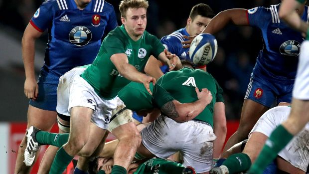 Ireland Under-20 Jonny Stewart is back at scrumhalf to face Wales at Donnybrook. Photograph: Inpho