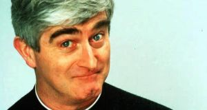 Ted head: Dermot Morgan as Fr Ted Crilly. Photograph: Channel 4