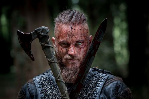 Travis Fimmel  as Ragnar Lothbrok the Viking hero of the series. Photograph: Jonathan Hession