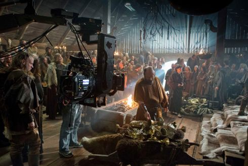 Filming Season 1 of Vikings at Ashford Studios, Co. Wicklow. Photograph: Jonathan Hession