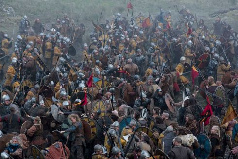 A battle between The Saxon and Viking armies, Hollywood Co. Wicklow. Photograph: Jonathan Hession
