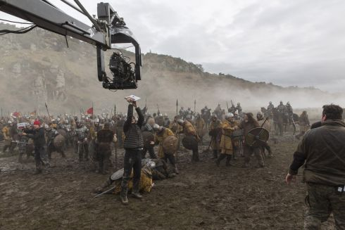 Filming Vikings in Hollywood, Co. Wicklow.  Photograph: Jonathan Hession