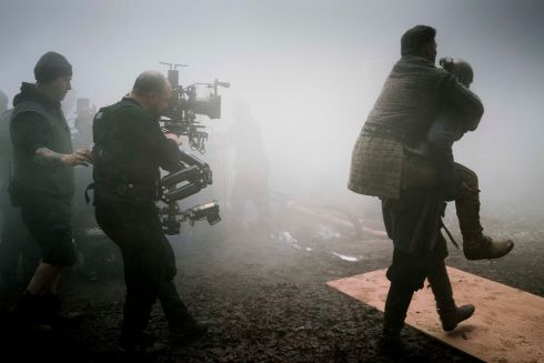Steady Cam operator Iain Baird filming on the foggy Vikings Set, Co. Wicklow.Photograph: Jonathan Hession