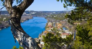 American rarity: Mount Bonnell  is open to the public for free. Photograph: iStock/Getty