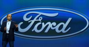Ford: Raj Nair had led the firm's R&D work in driverless cars and tech innovations. Photograph: Ethan Miller/Getty