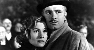Rebecca: Joan Fontaine and Laurence Olivier in Alfred Hitchcock's film of the novel. Photograph: Hulton/Getty