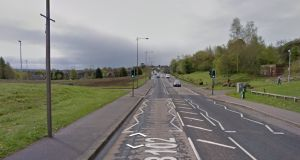 Police said a 34-year-old man arrested in the Poleglass area (above) of Belfast on Wednesday has been released unconditionally. File  photograph: Google Street View