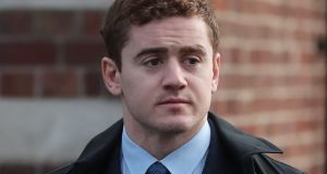Ulster rugby player Paddy Jackson said in a statement he knew the complainant was interested in him because she touched him in a flirty way and was trying to chat to him. Photograph: PA