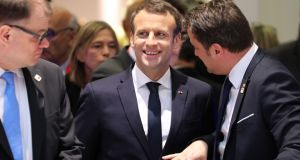 Emmanuel Macron at the launch of the European Head of States and Governments in Brussels on Friday: parties jumping aboard his new centrist vehicle will have to be unhappy with its current arrangement. Photograph: Ludovic Marin/AFP/Getty Images