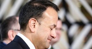 Taoiseach Leo Varadkar arrives for a meeting  in Brussels, Belgium, on Friday, February 23rd. Photograph: Julien Warnand/EPA