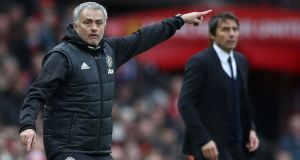 Jose Mourinho will renew his rivalry with Antonio Conte on Sunday when Manchester United entertain reigning Premier League champions Chelsea. Photo: Nick Potts/PA Wire
