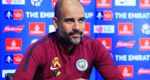 Pep Guardiola has until March 5th to respond to his FA charge for wearing a yellow ribbon. Photo: Matt McNulty - Manchester City/Man City via Getty Images