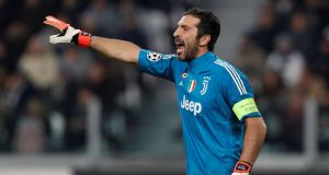 Gianluigi Buffon: comes across as an engaging figure in the Netflix series 'First Team'  –  which chronicles  a season in the life of the famous Italian club. Photograph: Paul Childs/Reuters