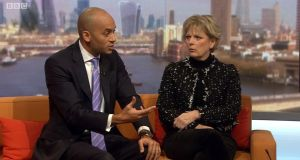 "Chuka Umunna and Anna Soubry: ""If they are not going to change their position they are going to lose votes in the House of Commons, it's as straightforward as that,"" says Mr Umunna. Photograph: BBC/PA Wire"