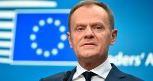 "European Council president Donald Tusk: said British Brexit proposals for ""managed divergence"" from EU regulations along with preferential access to EU markets show that Boris Johnson's ""cake philosophy"" lives on. Photograph: John Thys/AFP/Getty Images"