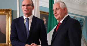 Tánaiste and Minister for Foreign Affairs Simon Coveney meets US secretary of state Rex Tillerson  in Washington DC