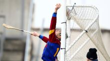 UL's David McCarthy saves a shot over his crossbar. Photograph: Ken Sutton/Inpho