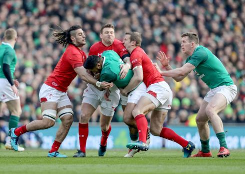 <b>12. Bundee Aki 7</b> Mixed bag – beat four defenders in traffic yet coughed up two penalties - but not many other Irish backs could muscle over for his try line before half-time. Established at 12 now.   Photograph: Inpho