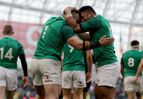 <b>1. Cian Healy 8</b> Prising the starting jersey away from Jack McGrath might just be the achievement of an already great career; his 54th minute try broke Wales and 15 other carries for 12 gruesome metres keeps him in possession of number one.   Photograph: Inpho