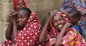 Relatives of missing school girls in Dapchi in the northeastern state of Yobe. Photograph: REUTERS/Afolabi Sotunde