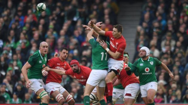 Liam Williams had one of his quieter afternoons as Wales were beaten 37-27 by Ireland. Photograph: Clodagh Kilcoyne/Reuters